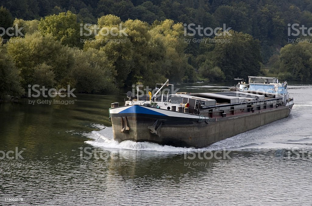 Rhine River Barge stock photo