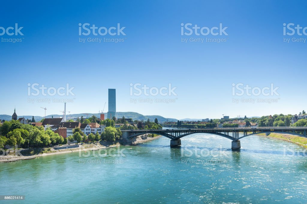 Rhein mit der Wettsteinbrücke in Basel – Foto