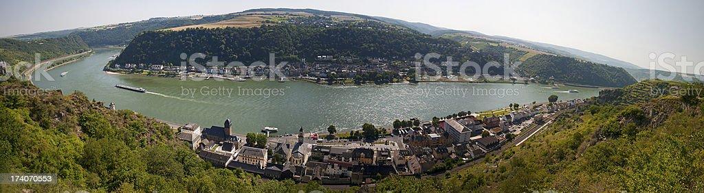 Rhine valley panorama stock photo