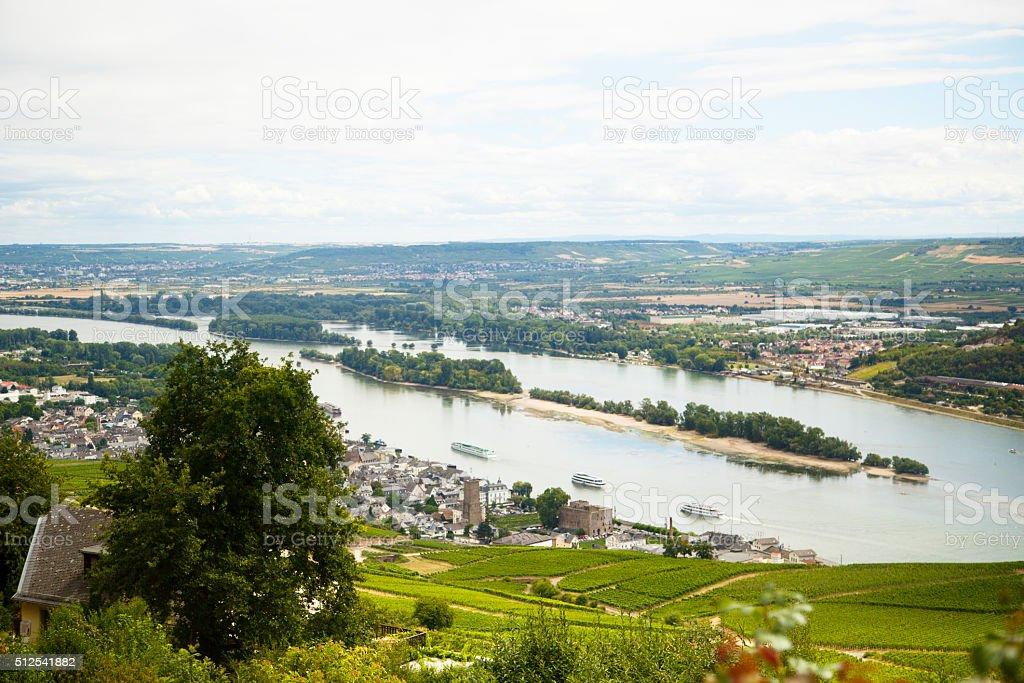 Rhine valley stock photo