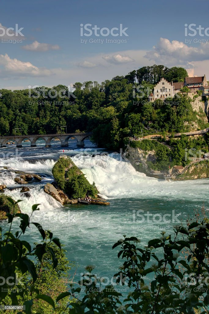 Rhinefall, the largest Waterfall in Europe stock photo