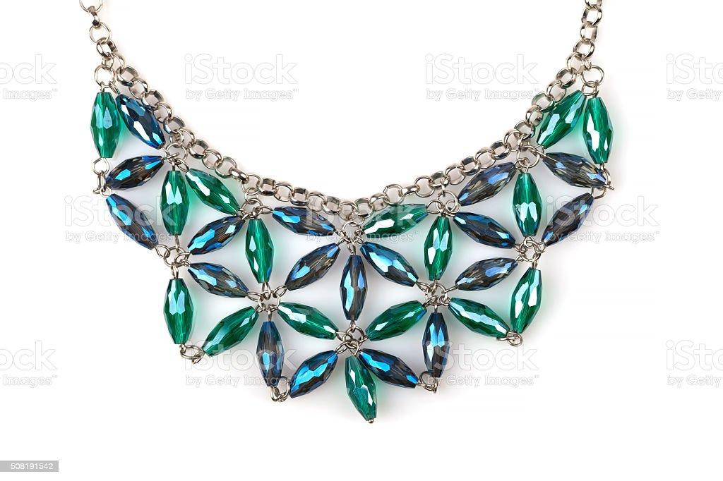 Rhinestone necklace stock photo