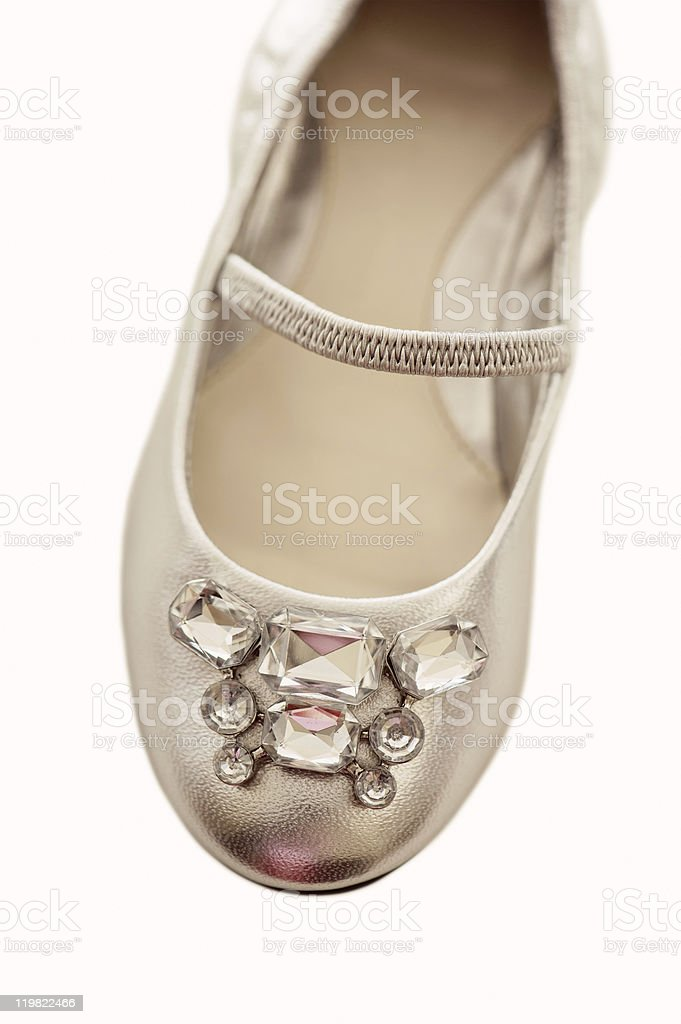 Rhinestone Shoe For Little Girl royalty-free stock photo
