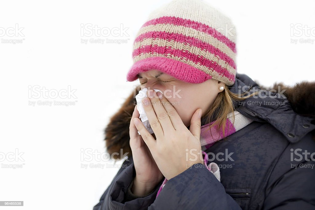 Rhinitis royalty-free stock photo