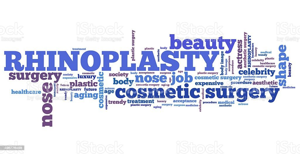 Rhinoplasty stock photo