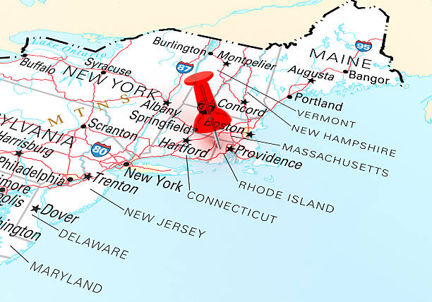 Royalty Free New England Map Pictures, Images and Stock Photos - iStock