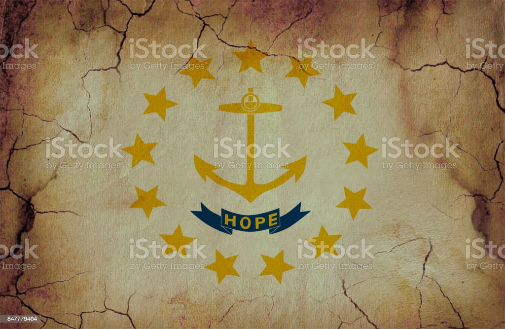 Rhode Island State Grunge Flag Stock Photo More Pictures Of