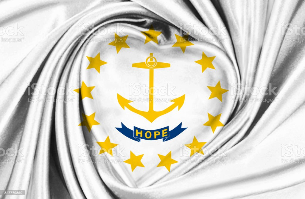 Rhode Island State Waving Flag Stock Photo More Pictures Of