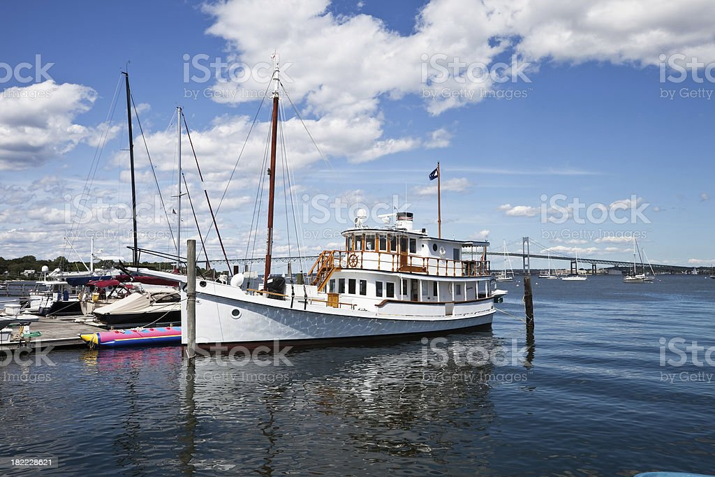 Rhode Island Tourist Boat at Jamestown stock photo