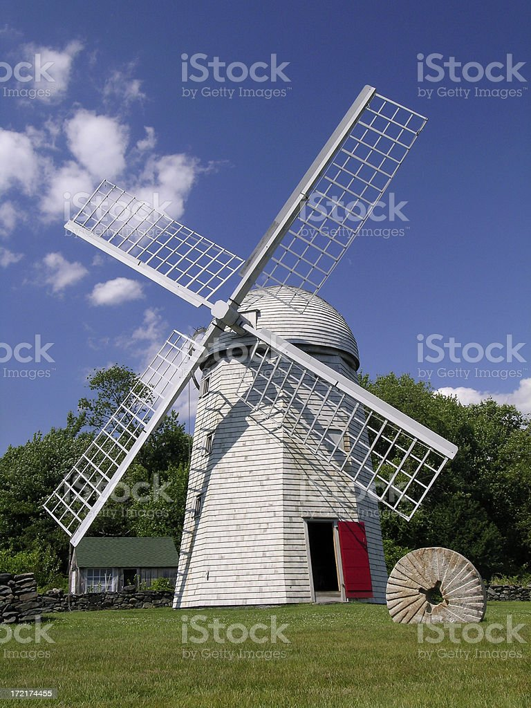 Rhode Island Windmill stock photo
