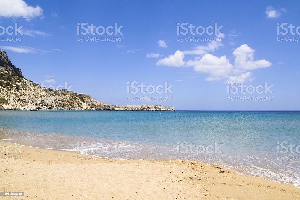 Rhodes beach royalty-free stock photo