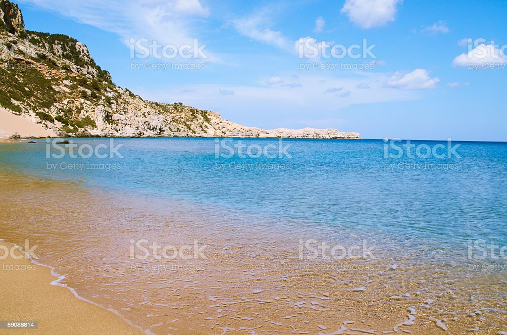 Rhodes beach Lizenzfreies stock-foto