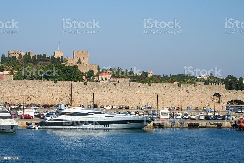 Rhodes city royalty-free stock photo