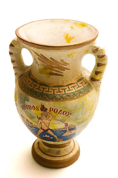 Rhodes greek vase stock photo