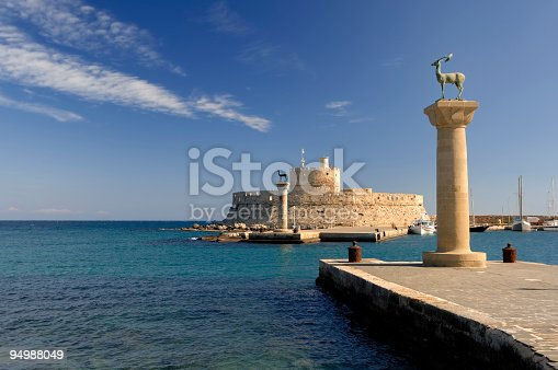 istock Rhodes Landmark Mandraki Port 94988049