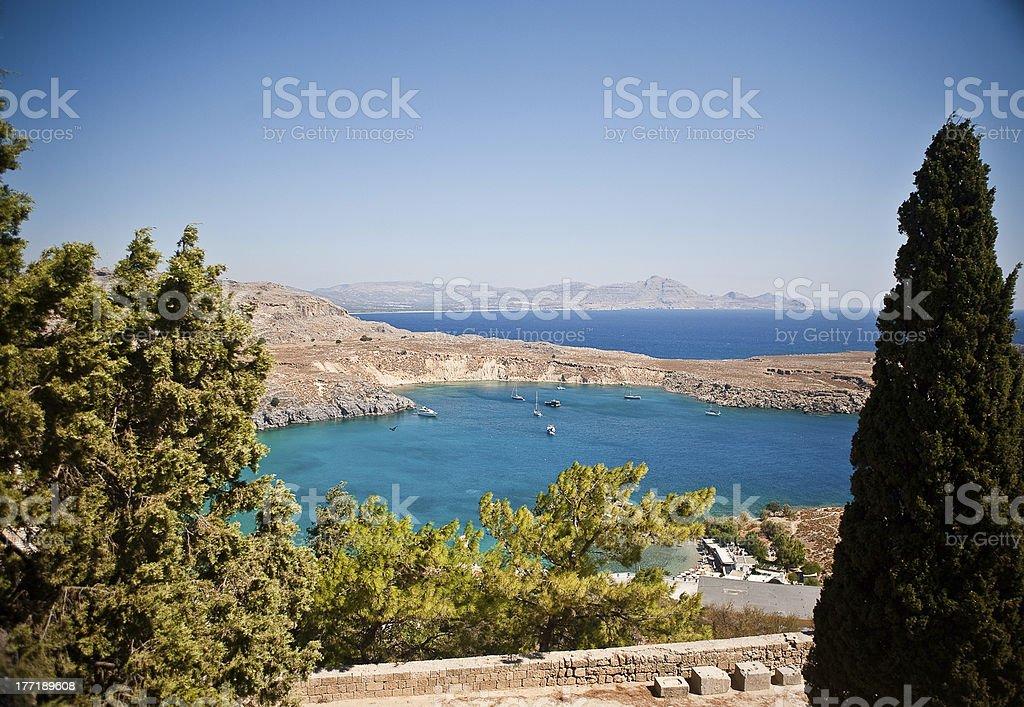 Rhodes, Lindos bay royalty-free stock photo