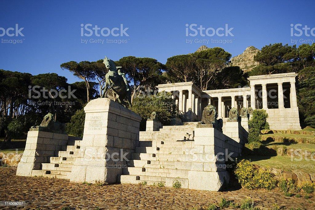 Rhodes Memorial, Cape Town stock photo