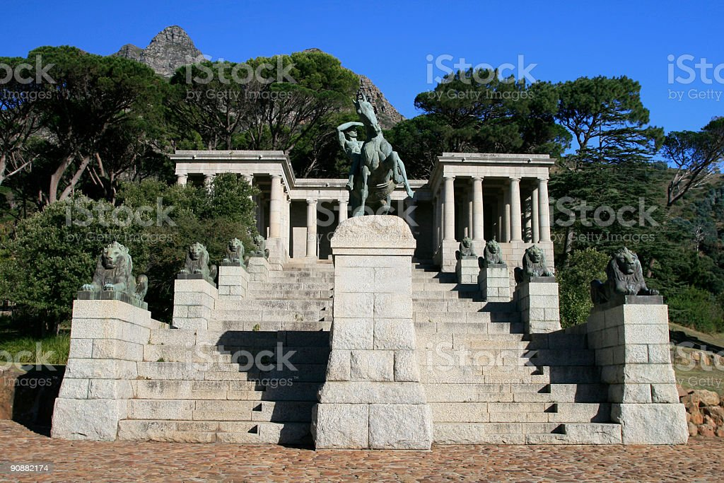Rhodes Memorial in Cape Town, South Africa stock photo
