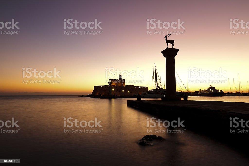 Rhodes Sunrise stock photo