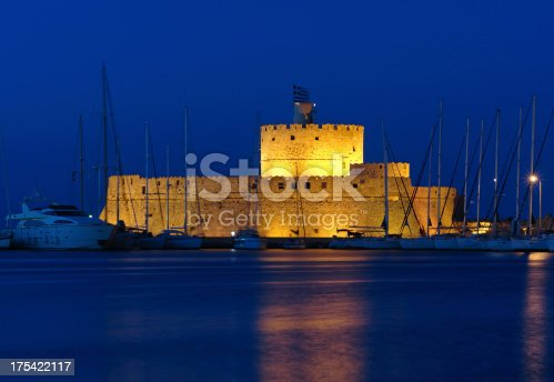 istock Rhodes Tower of St. Nicholas 175422117