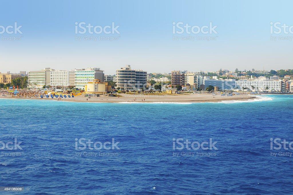 Rhodes Town stock photo