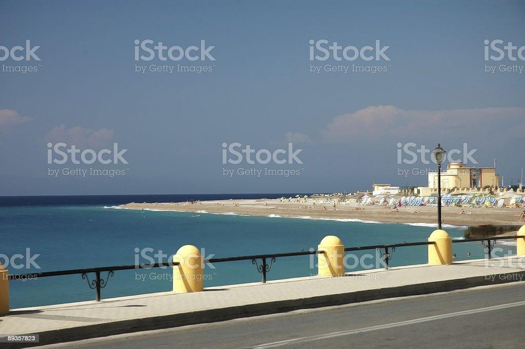 Rhodos Beach royalty free stockfoto