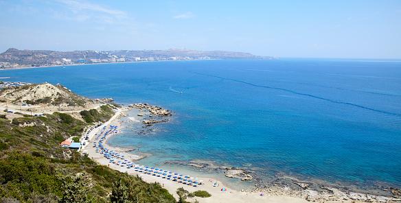 Insel Rhodos Faliraki Fkk Strand Panorama Griechenland