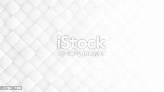 951228698 istock photo 3D Rhombus Blocks Conceptual Sci-Fi Minimalist White Abstract Background 1226720980