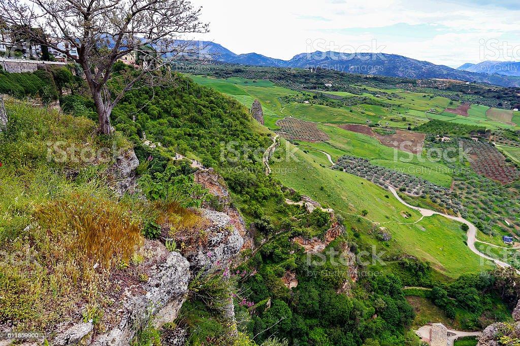Rhonda, Spain nature landscape stock photo