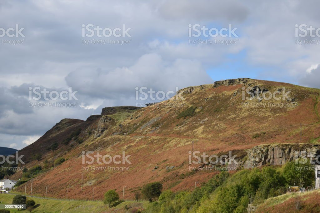 Rhondda Valley View stock photo