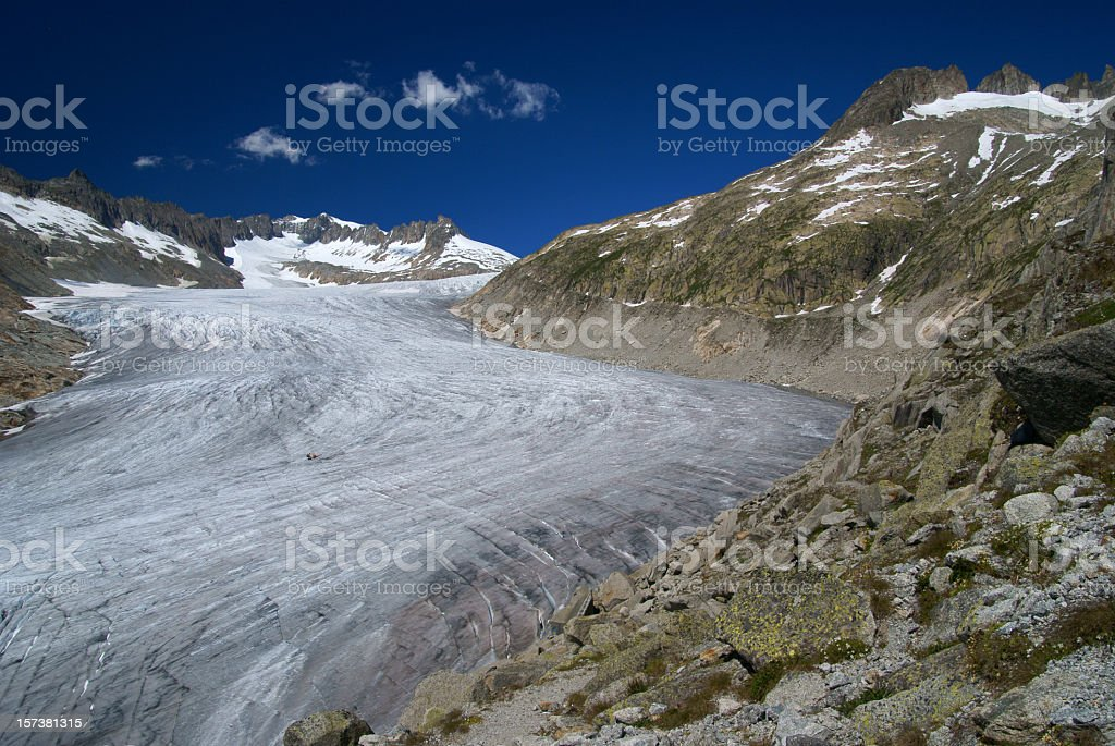 Rhône Glacier royalty-free stock photo