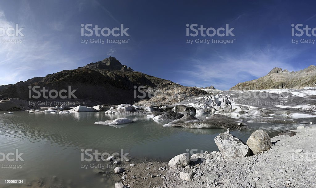 Rhoneglacier stock photo
