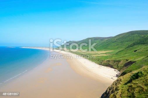 Rhossili Bay Beach, Gower Peninsula, Wales.