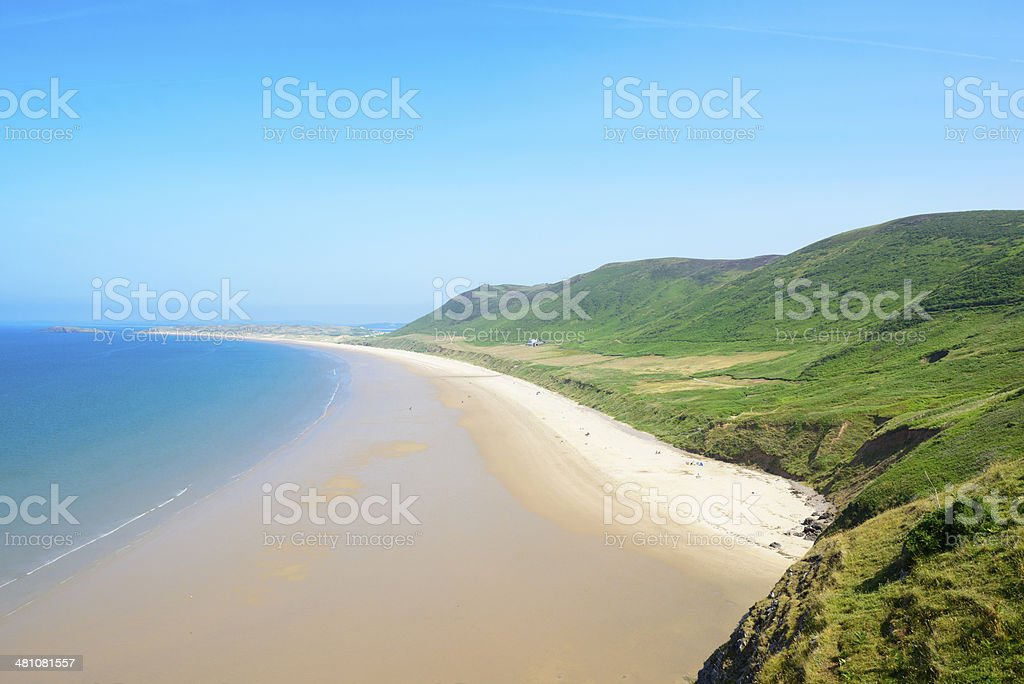 Rhossili Bay stock photo