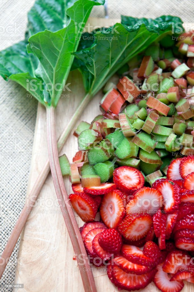 Rhubarb and Strawberry royalty-free stock photo