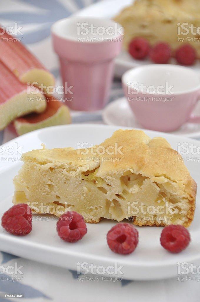 Rhubarb cake royalty-free stock photo