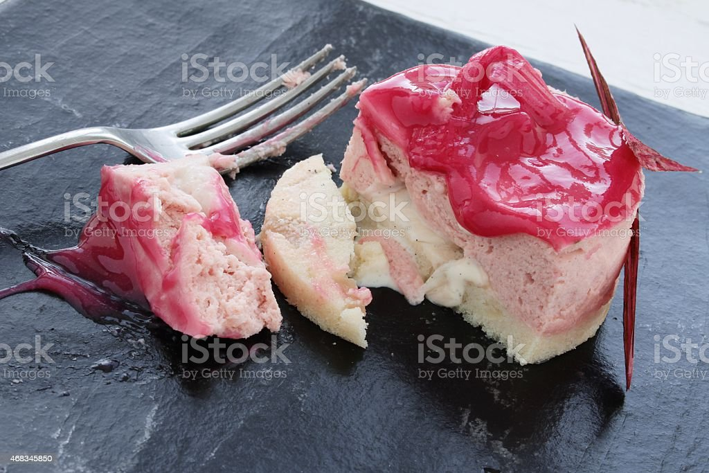 rhubarb & custard  mousse dessert royalty-free stock photo