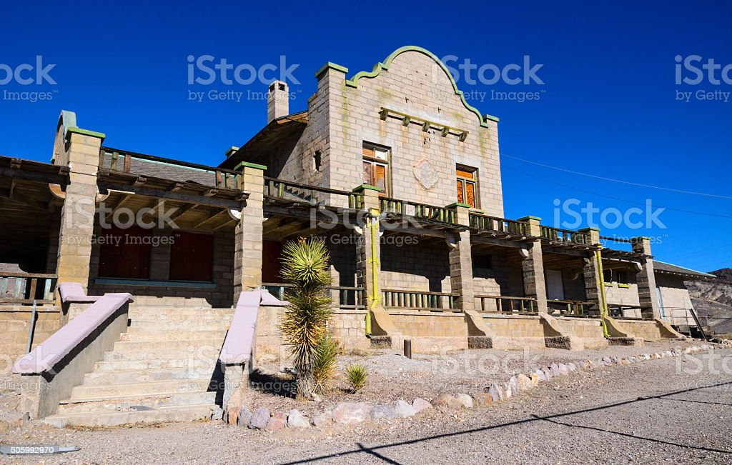 Rhyolite Ghost Town Stock Photo - Download Image Now - iStock