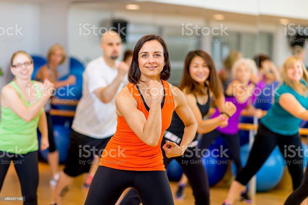 Rhythmic Dance Class stock photo