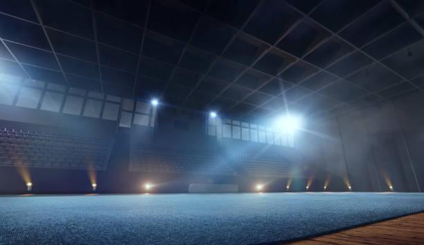 3d rhythmic gymnastic stadium - gymnastics stock pictures, royalty-free photos & images
