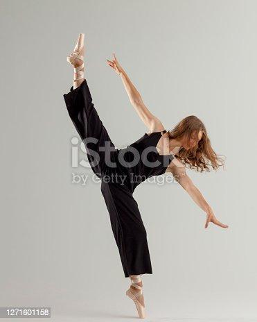 rhythmic gymnastics girl with ribbon