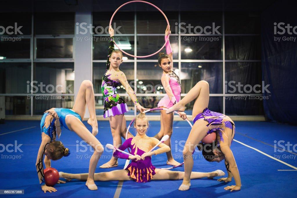 Rhythmic gymnastics girls