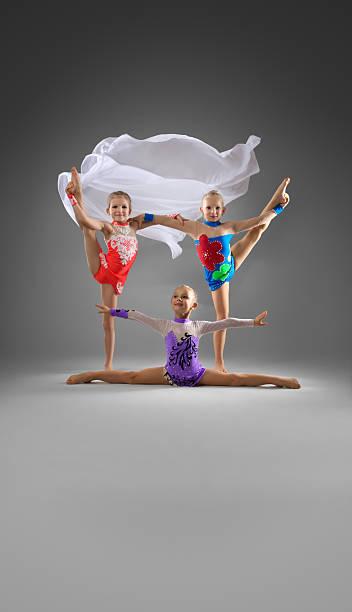 Rhythmic gymnastics stock photo