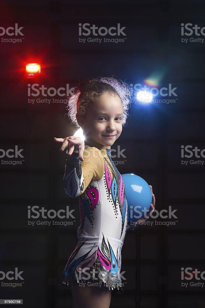 rhythmic gymnastics royalty-free stock photo