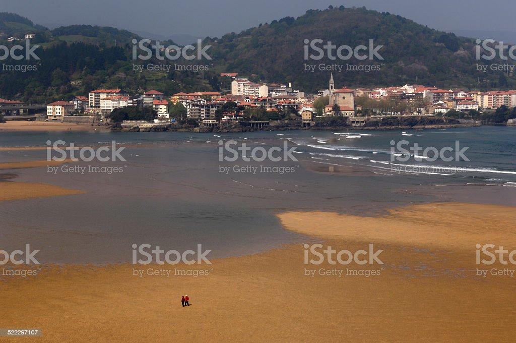 Ria de Mundaka, Pais Vasco stock photo