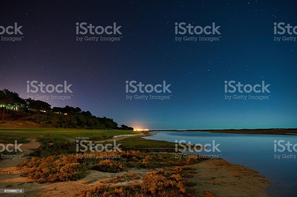 Ria Formosa by Night foto royalty-free