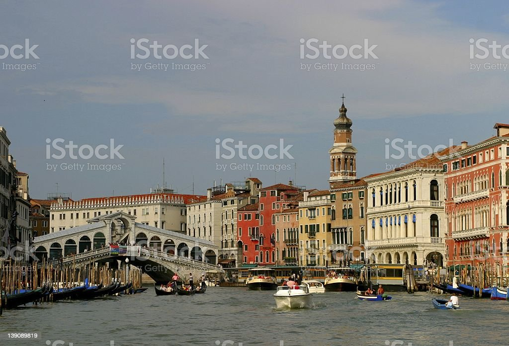 Rialto Aria in Venice royalty-free stock photo