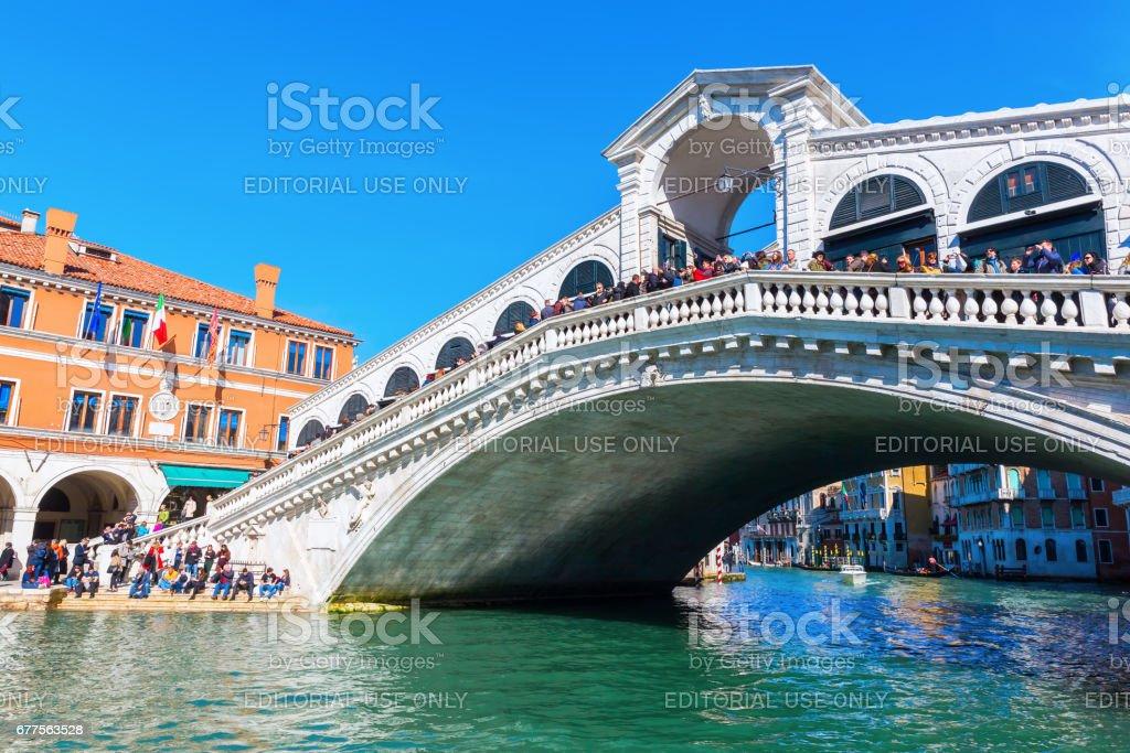 Rialto Bridge at the Grand Canal in Venice, Italy royalty-free stock photo