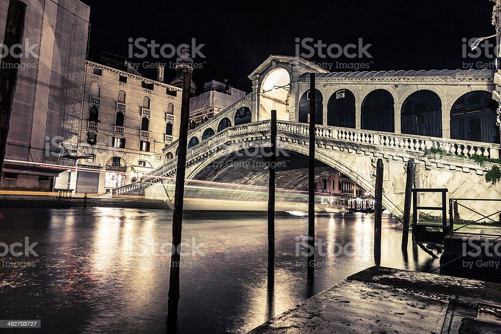 Rialto Bridge in the Grand Canal - Venice royalty-free stock photo
