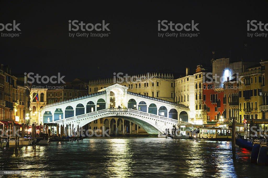 Rialto Bridge (Ponte Di Rialto) in Venice, Italy royalty-free stock photo